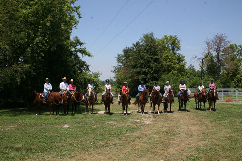 Horse group ride